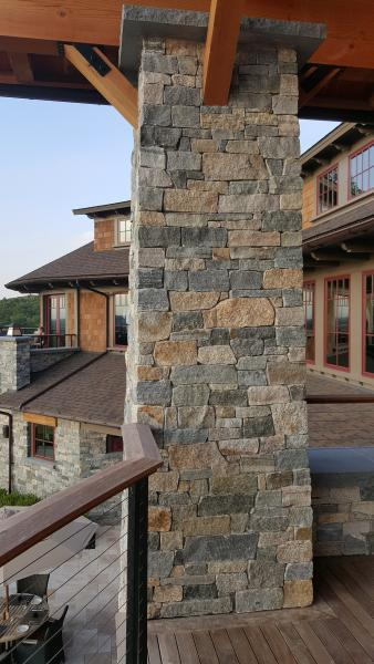 Boston Blend Ledgestone and Ashlar Combination thin veneer stone