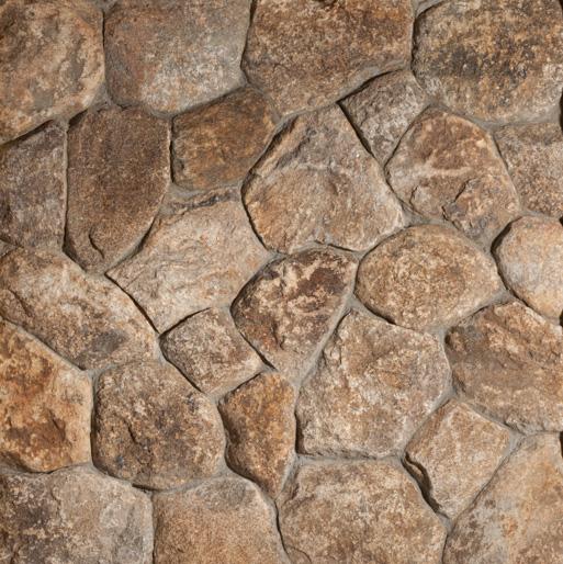 Round Connecticut Tan Thin Veneer Stone