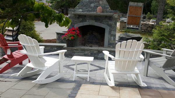 Sansoucy Stone Patio Fireplace