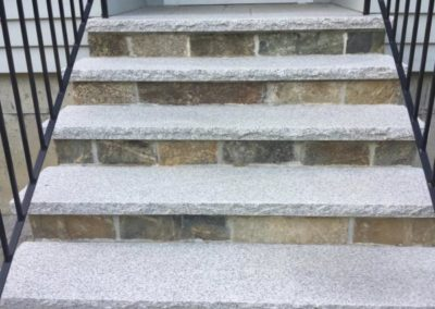 Salt and pepper granite treads