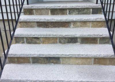 Salt and pepper granite treads