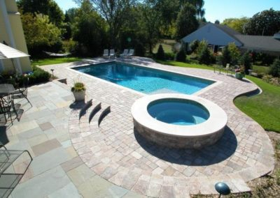 Bluestone patio with Brussels pool deck