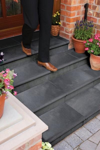 Unilock Black River Limestone Treads