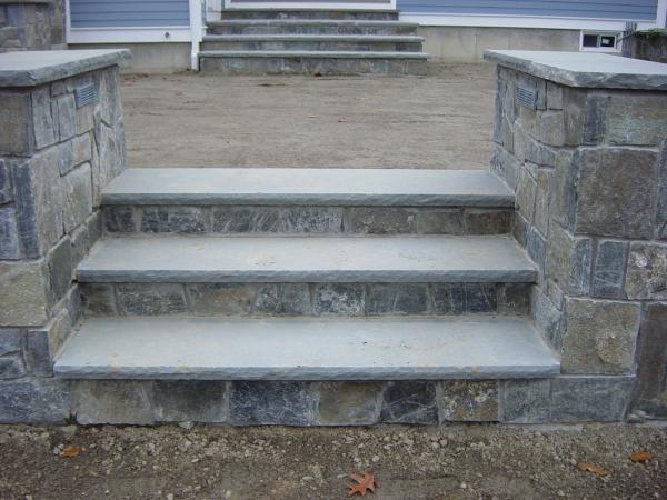 Bluestone Treads with rock face edge