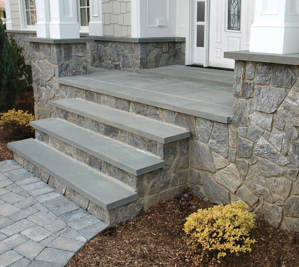 Bluestone Treads with thermal edge