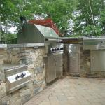 Boston Blend Ledgestone outdoor kitchen