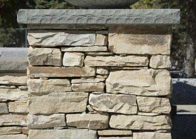 CT Tan Wallstone with Bluestone Cap