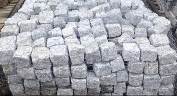 pile of Cobblestone Cubes