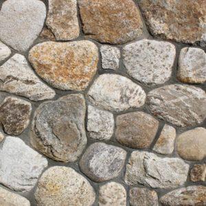 Colonial Tan Round thin veneer stone