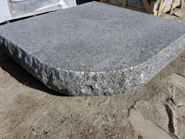 Custom Caledonia Granite Hearth