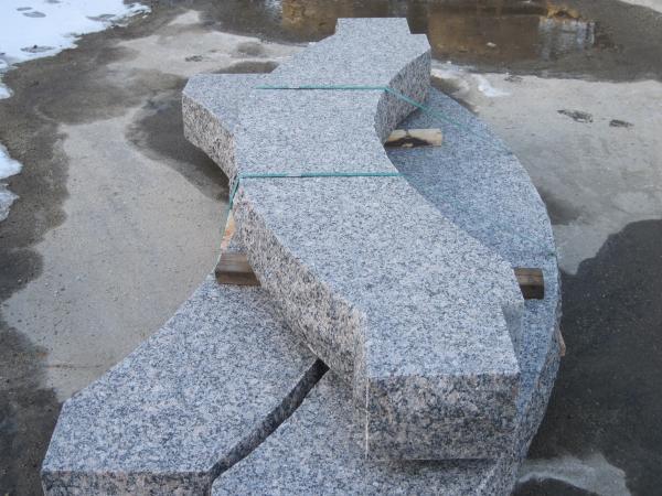 Custom Caledonia Radius Granite Steps