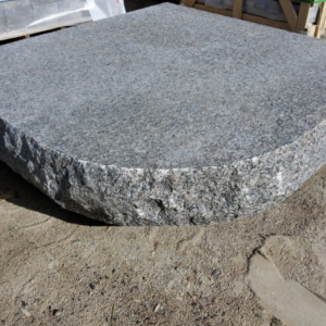 Custom Caledonia granite hearth