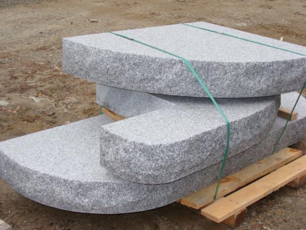 Custom Rounded Granite Steps Stanstead