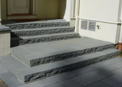 Bluestone steps with rockface edge