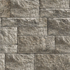 Unilock Estate Wall Granite segmented retaining wall blocks