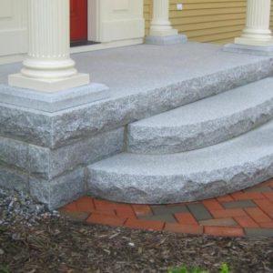 Radius granite steps