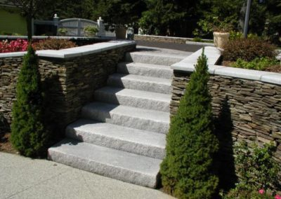 PA Thin wall with granite caps and steps