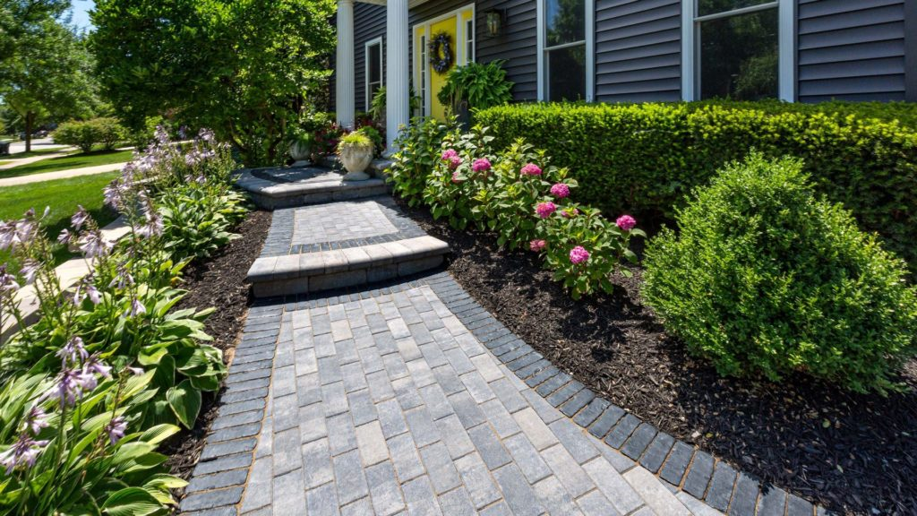 Unilock Hollandstone Pavers in walkway