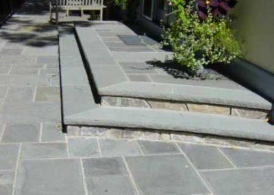 Thermal Bluestone patio with bluestone treads