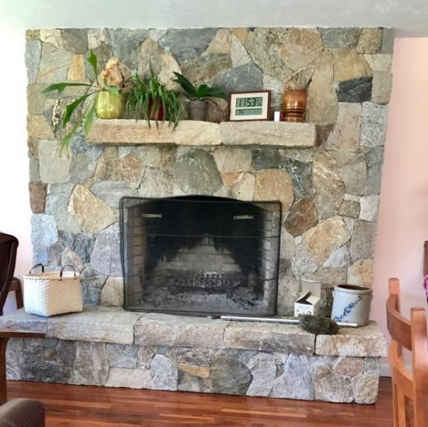 New England Blend Mosaic Fireplace
