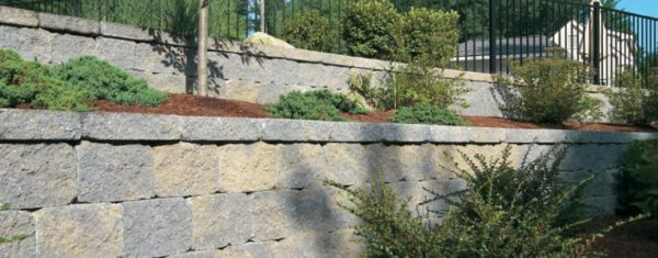Stone Wall Ideal Concrete Blocks