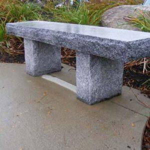 Straight salt and pepper granite bench