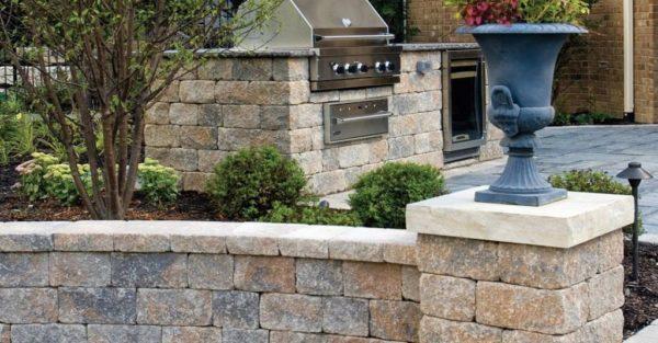 Unilock Estate Wall project sierra
