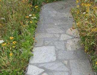 Idaho flagging silver walkway