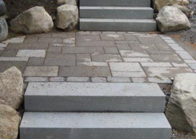 Thermal bluestone steps