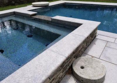Umbria granite pool and spa coping