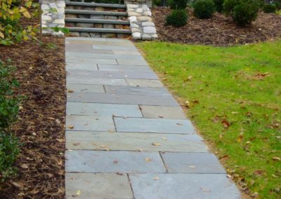 Natural Cleft bluestone walkway