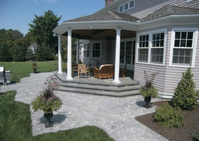 Bluestone treads and landing with Georgetown quarry blend patio