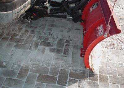 Yes you can plow your pavers without voiding the warranty!