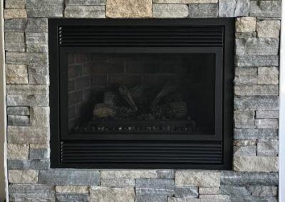 NE Blend ledgestone fireplace