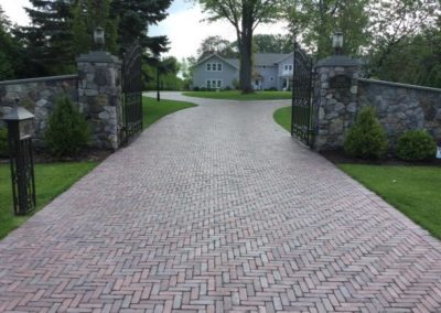 Copthorne driveway in three color blend