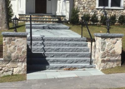 Blue mist granite steps