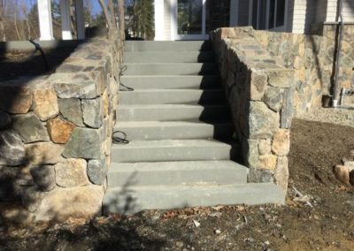 Bluestone steps with thermal front and top