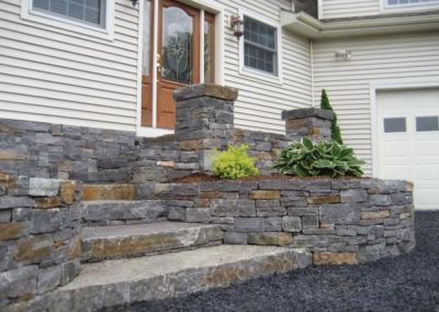 Saratoga granite wall stone