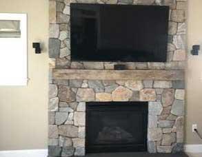 NE Blend Mosaic fireplace