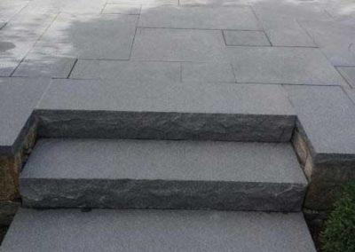 Bluemist granite patio and steps