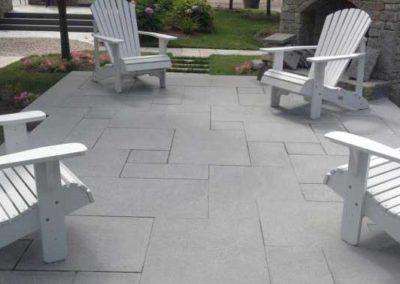 Blue Mist granite patio
