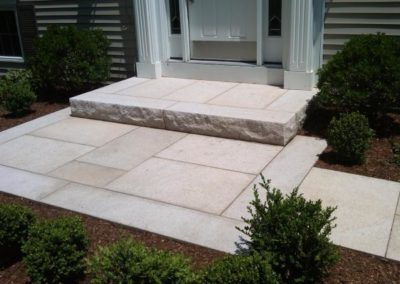 Phoenician granite steps and pavers