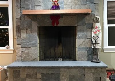 New England square and rec fireplace