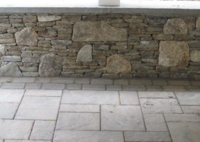 New England and Pennsylvania fieldstone mix with bluestone cap