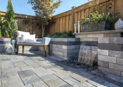 Beacon Hill Flagging patio with Lineo water feature