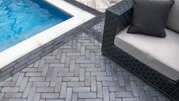 Copthorne Unilock Concrete Pavers- Pool Deck