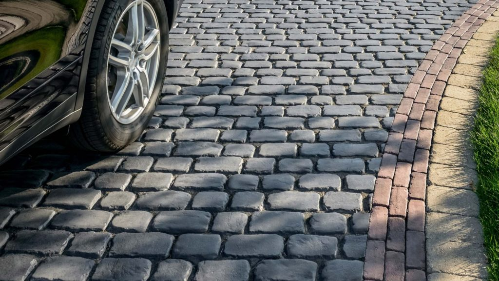 Courtstone Unilock Concrete Pavers Driveway