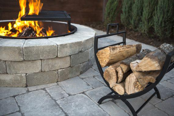 photo of a fireplace kit sold by Sansoucy Stone in Worcester MA