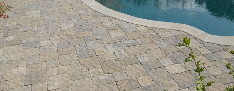patio built with Ideal Concrete Town N Country Pavers