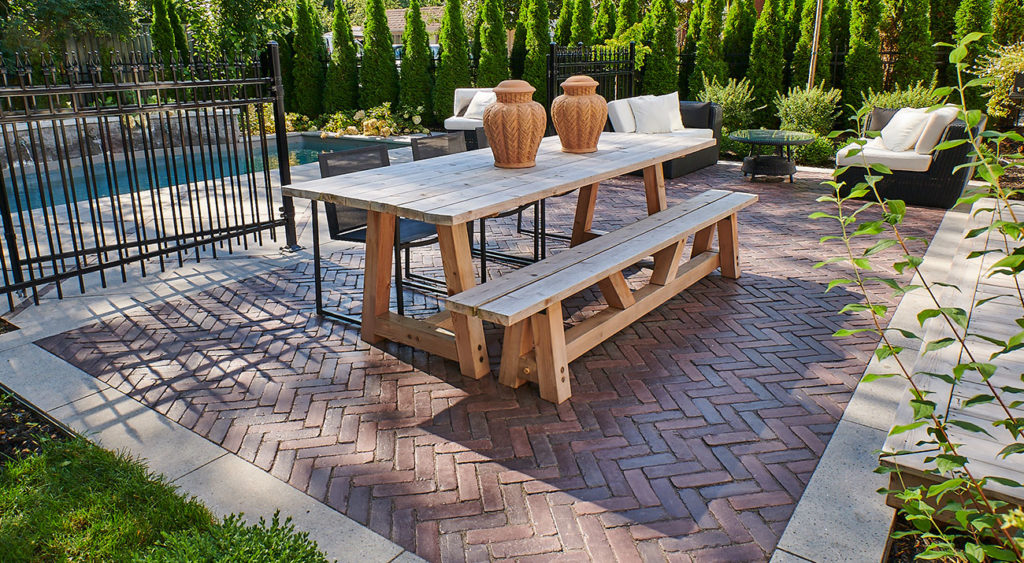 Unilock Copthorne Burgundy Patio Pavers